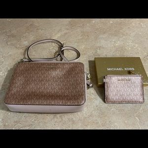 Michael Kors Rose Gold Crossbody